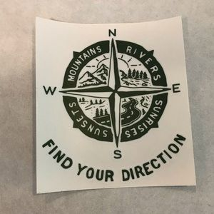 Other - Find Your Direction 5x4.5 Car Vinyl Sticker Decal